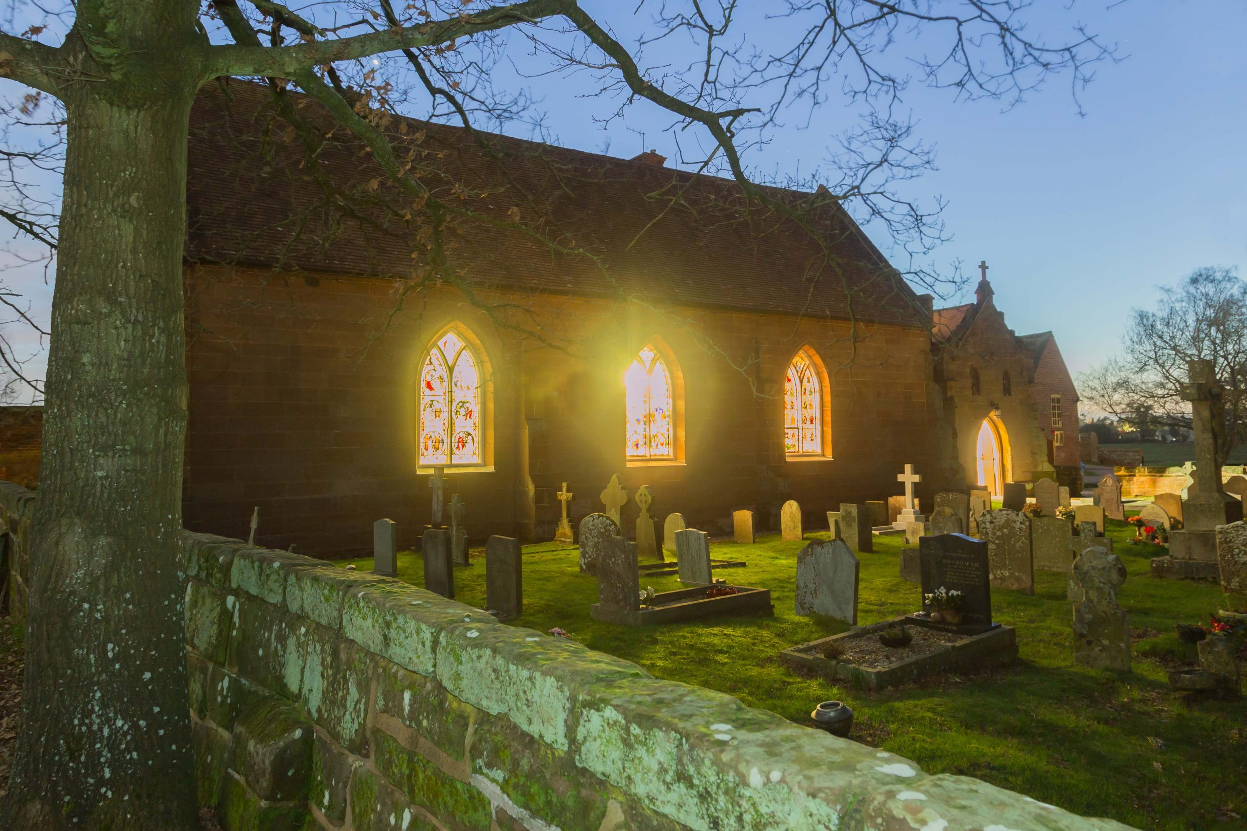 St Mary's Church in the winter evening light